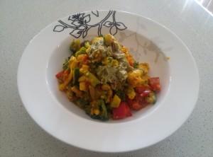 Yellow veggie salad